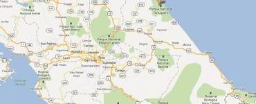 Parc de Tortuguero - localisation carte