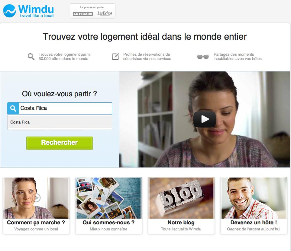 Où voulez-vous partir avec Wimdu ?