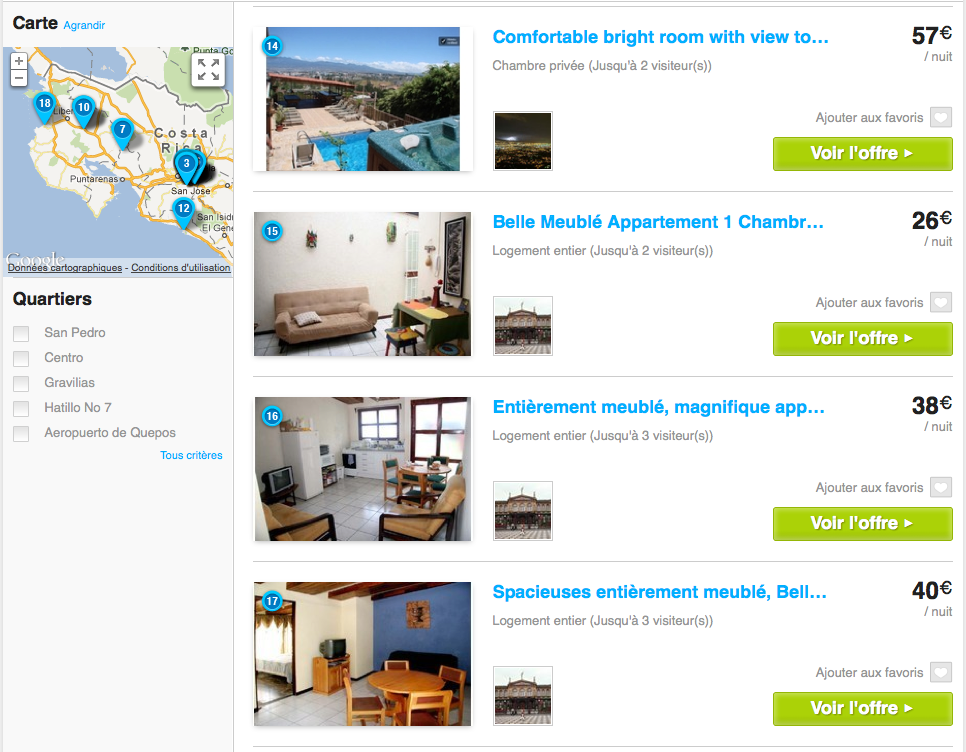 Les appartements de Wimdu au Costa Rica