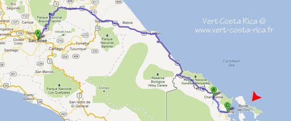 Transport et Bus de San José à l'archipel de Bocas del Toro - Panama