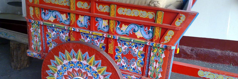 Symbole du Costa Rica - la carreta, traditionnelle charrette colorée du Costa Rica