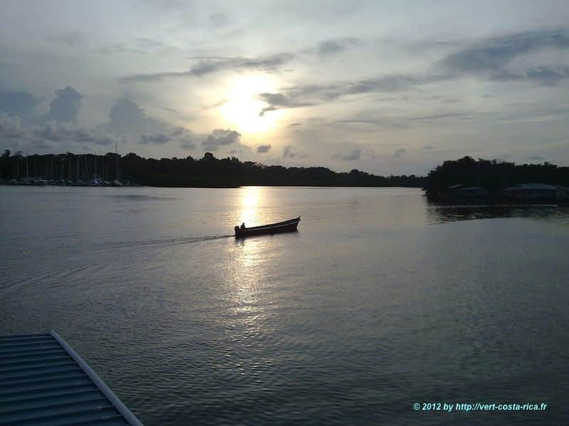 Excursion à Bocas del toro, coucher de soleil