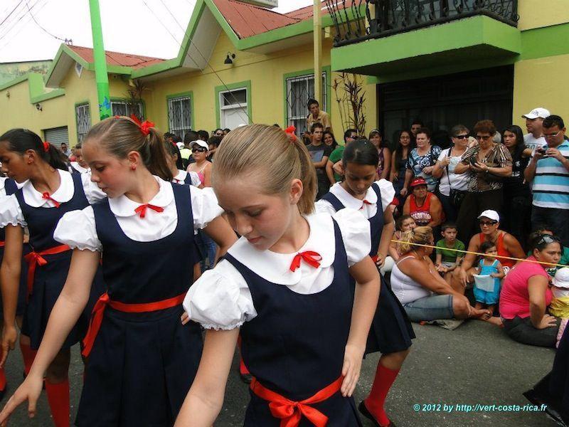 Fête du héros Juan Santamaria à Alajuela au Costa Rica