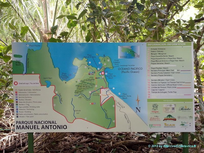 Visite et Plan du Parc National Manuel Antonio