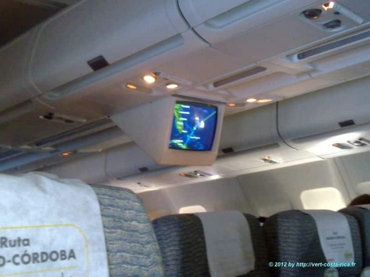 Images en avion de France, Madrid, au Costa Rica - San José