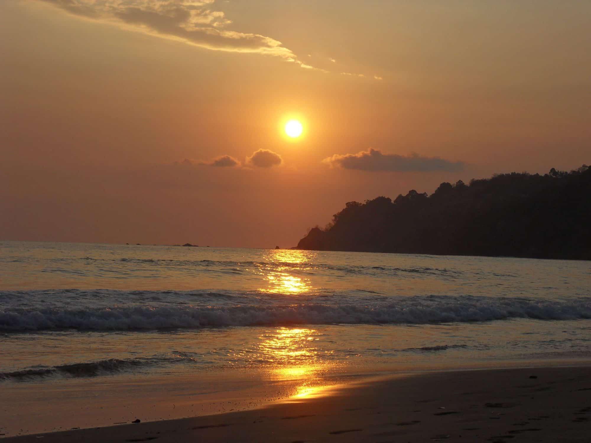coucher du soleil costa rica