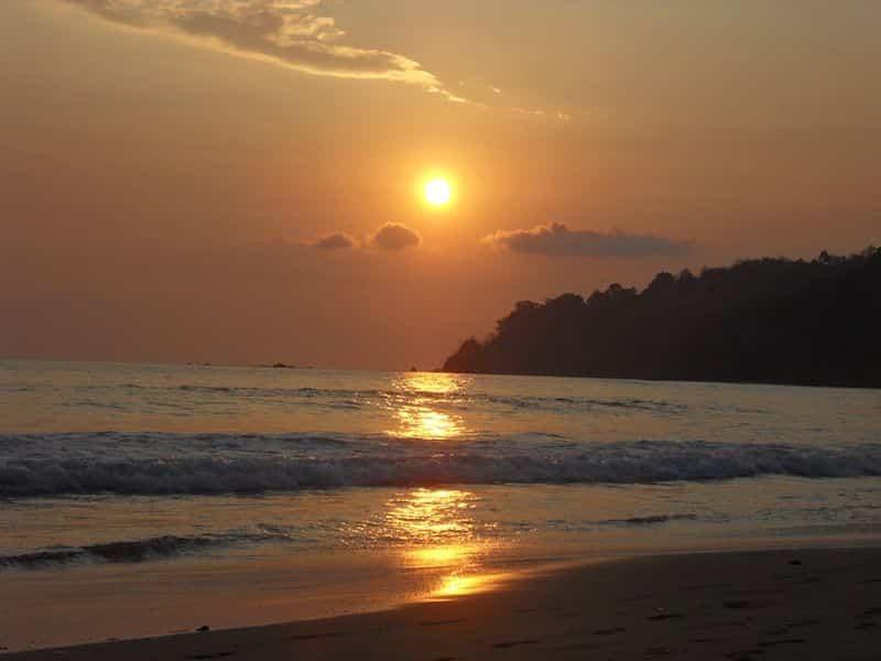 Coucher du soleil Costa Rica Pacifique