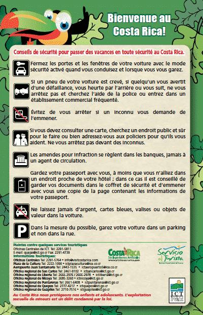 Conseils pour conduire au Costa Rica
