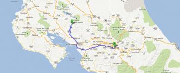Monteverde : trajet en bus ou en voiture