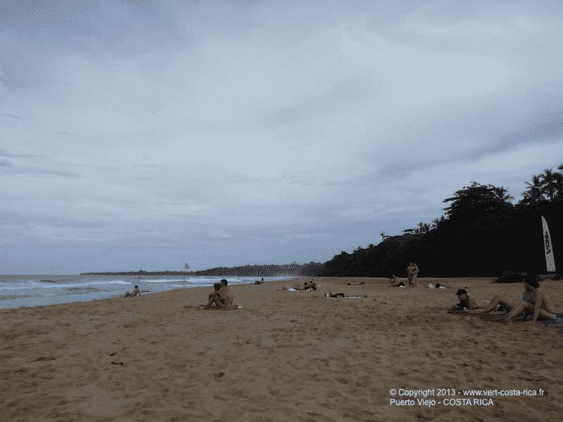 Plage de Cocles, surf et baignade : Puerto Viejo