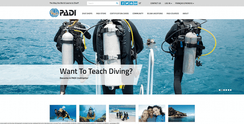 Cours PADI Open Water - PADI e-Learning