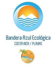Drapeau Bleu Écologique sur les plages du Costa Rica Bandera Azul Ecológica