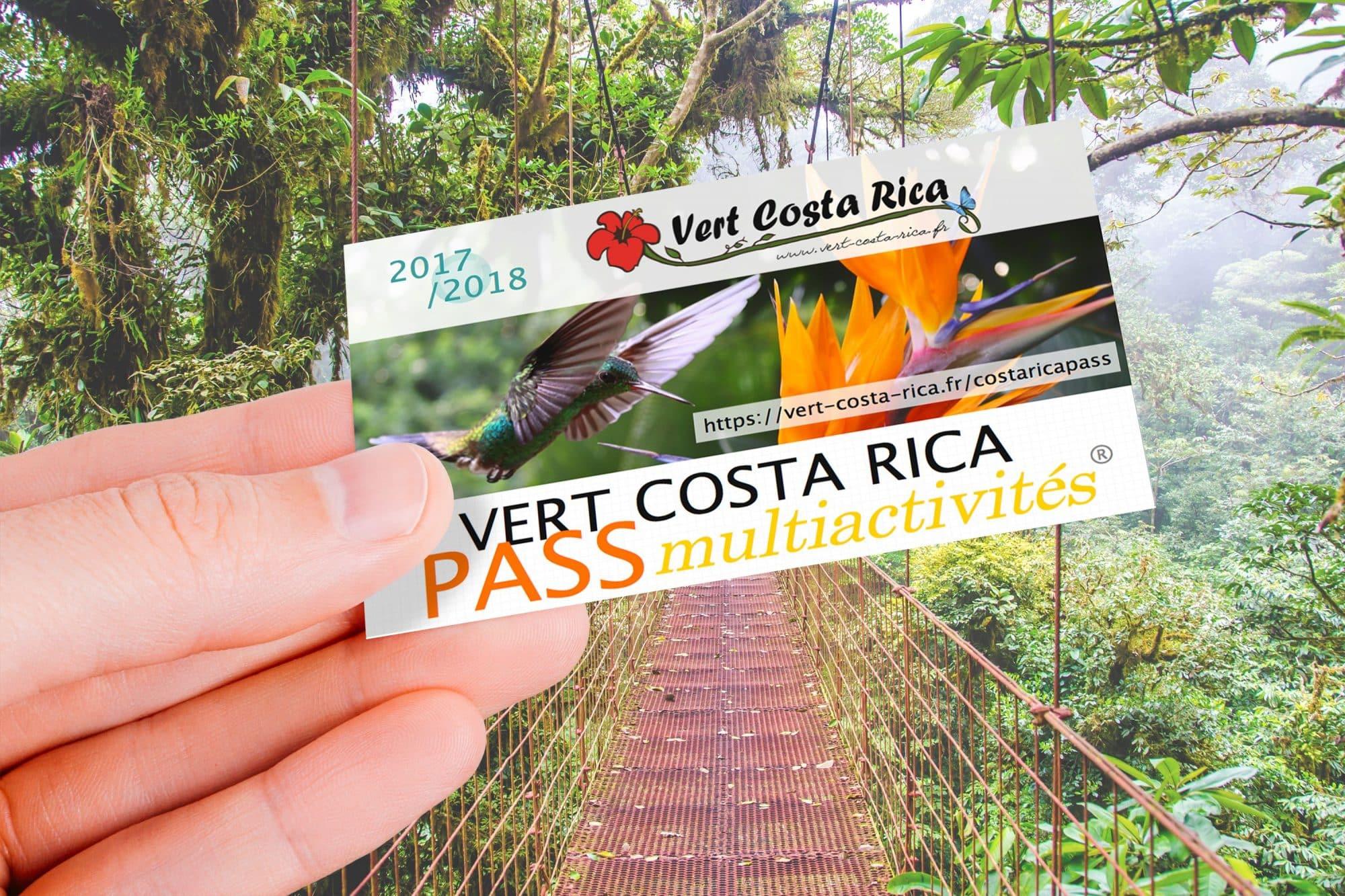 carte Vert-Costa-Rica PASS Multiactivités arrive !