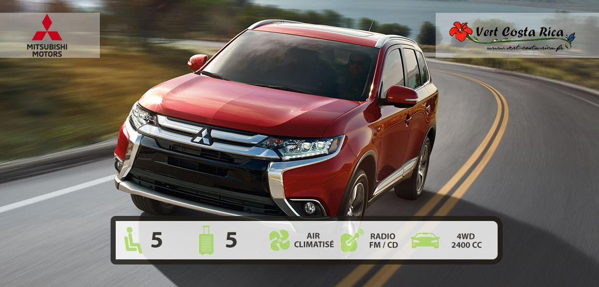 Location de voiture au Costa Rica | Mitsubishi Outlander 4x4