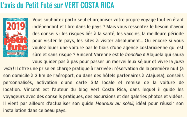L'avis du Petit Futé sur VERT COSTA RICA