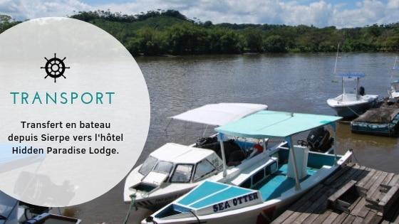 Excursion au Corcovado : Transport au départ de Sierpe pour rejoindre Bahía Drake