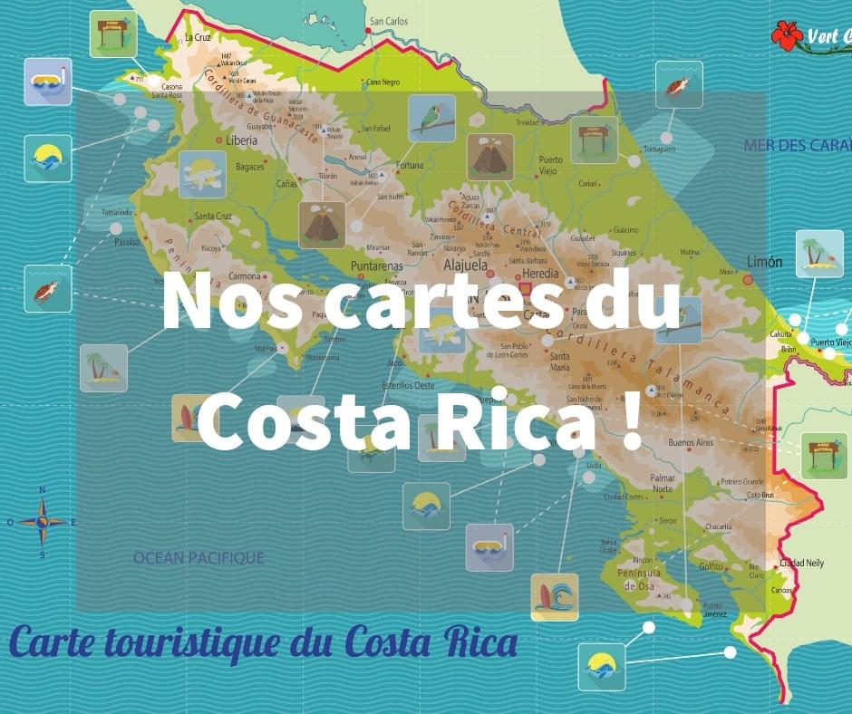 Les cartes du Costa Rica par Vert Costa Rica