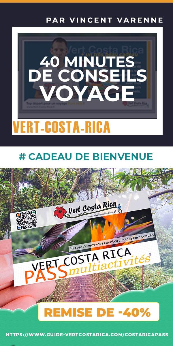 Accueil en français par Vert-Costa-Rica pour votre voyage au Costa Rica