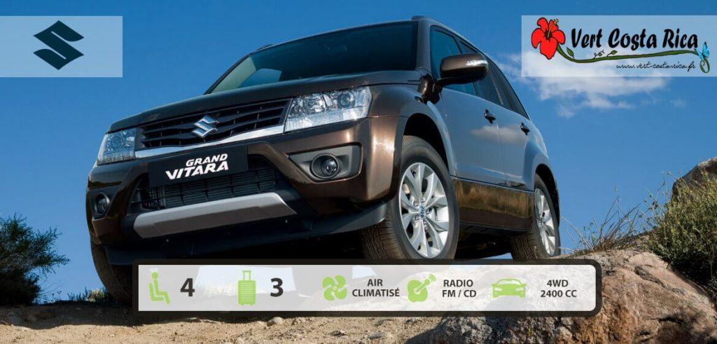 Voiture 4x4 Costa Rica : Suzuki Grand Vitara