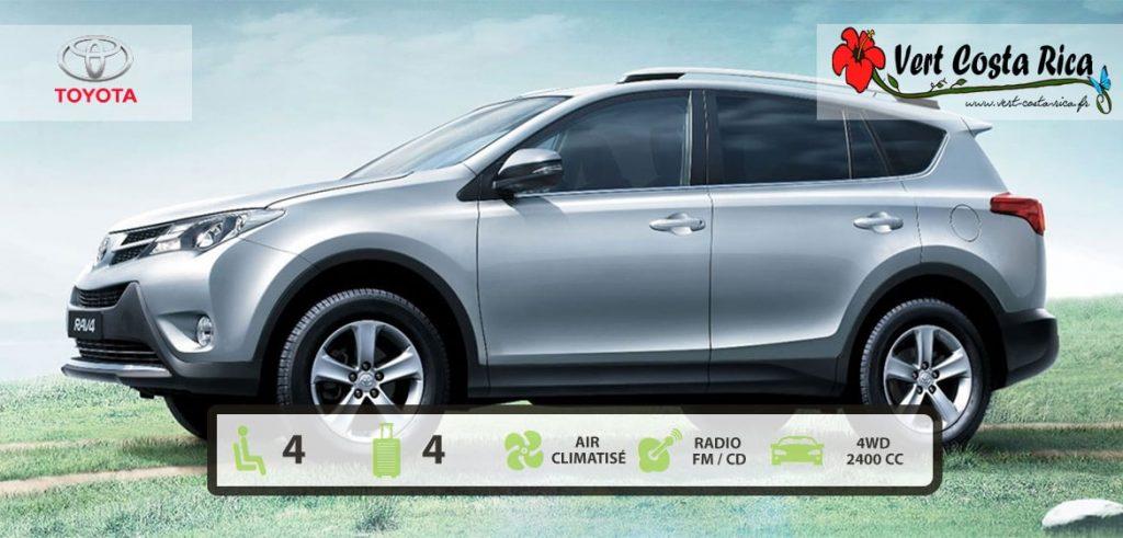 Voiture 4x4 Costa Rica : Toyota Rav4