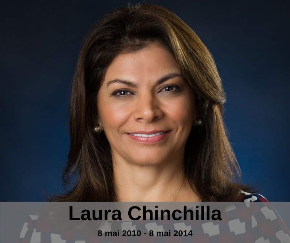 La présidente Laura Chinchilla du Costa Rica