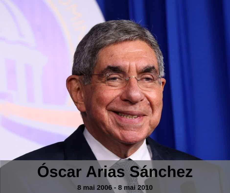 Le président Oscar Arias Sanchez du Costa Rica