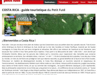 Le guide petit futé du Costa Rica 2018/2019 est disponible !