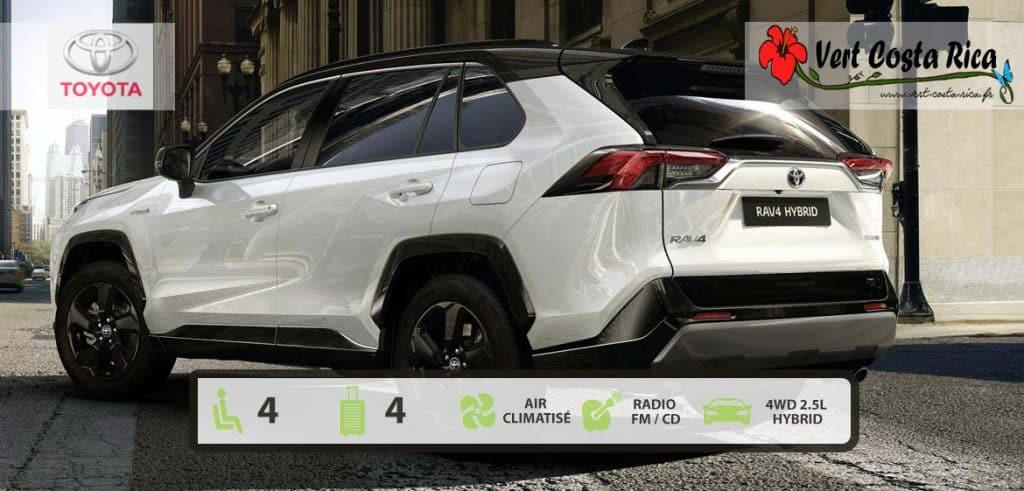 Voiture 4x4 Costa Rica : Toyota Rav4 Hybrid 2020 matique