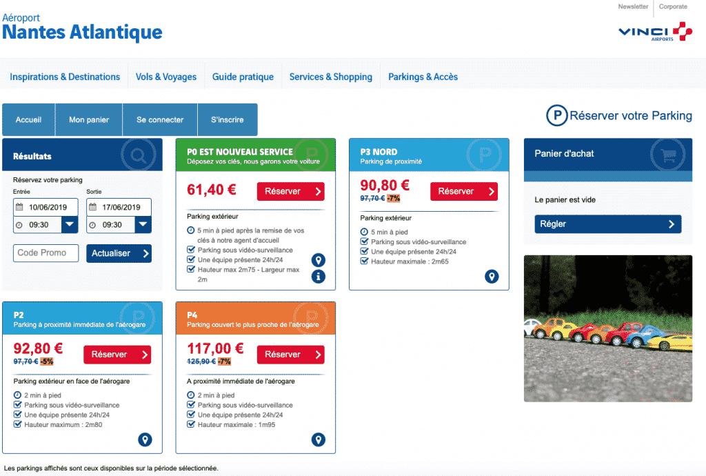 Où garer sa voiture à l'aéroport de Nantes ?