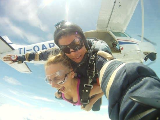 Saut en parachute au Costa Rica