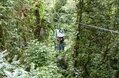 Téléphérique au Costa Rica