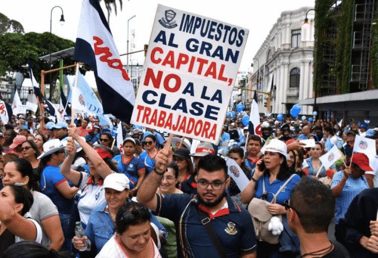 Les grèves contre l'IVA au Costa Rica